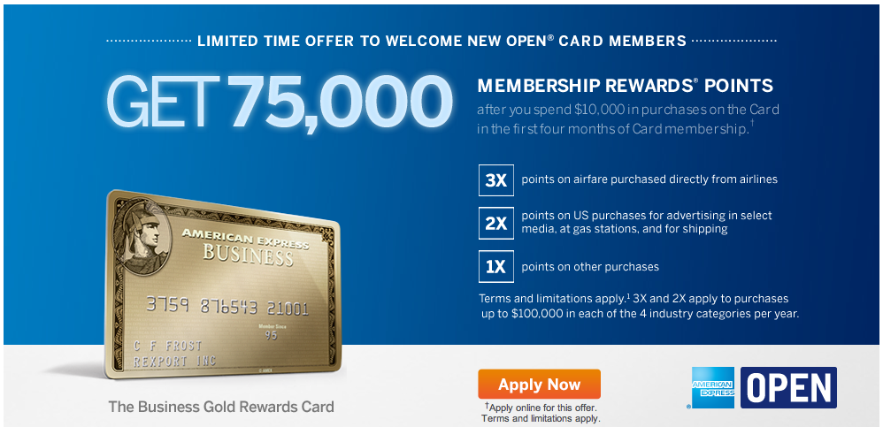 Amex business gold rewards card 75000 points bonus is back till may 17 colourmoves