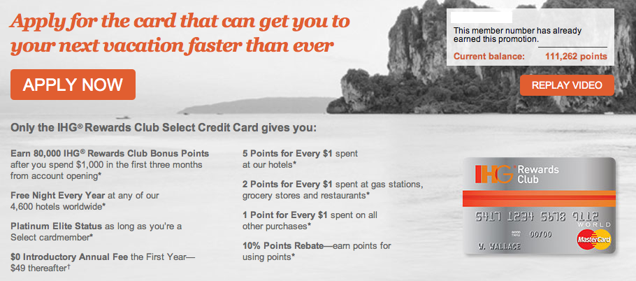 IHG rewards club mastercard 80000 points Chase IHG Rewards Mastercard offer for 80,000 points still available