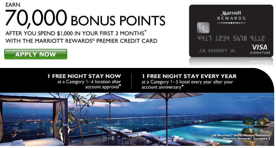 Marriott 70000 points 70000 point offers   Chase Ink Plus and Marriott Rewards Premier