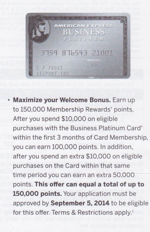 Amex Business Platinum 150000 points offer, Chase Freedom 17,500 points offer, and Sapphire Preferred Update