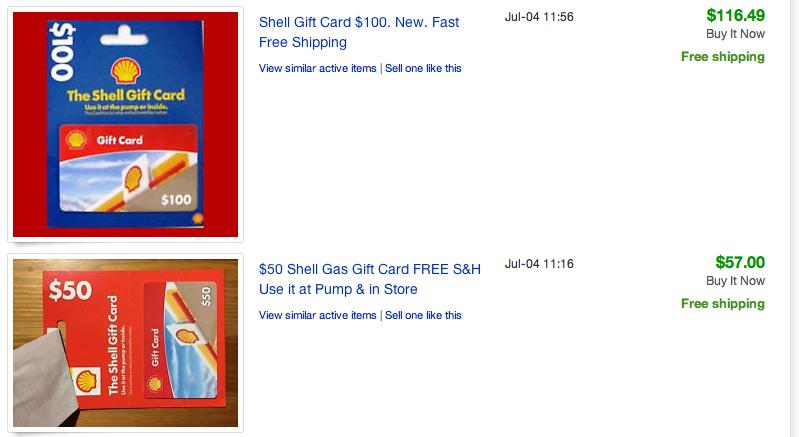 When Gift Cards Sold on Ebay Don't Make Sense