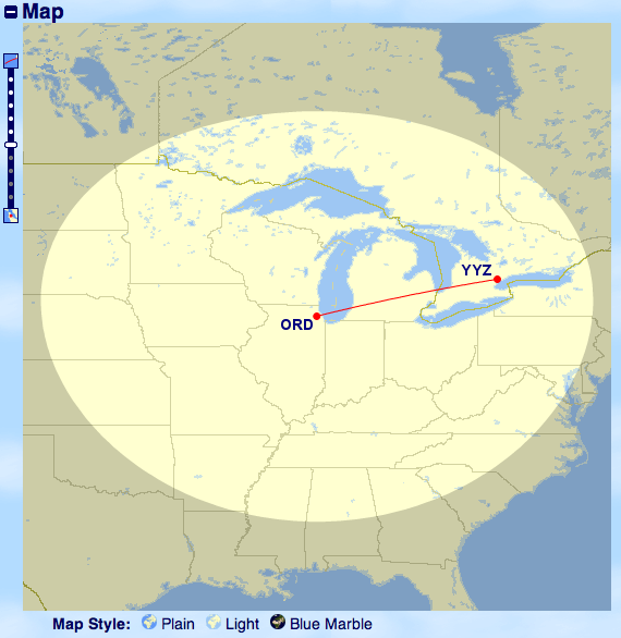 gcmap ord yyz Find out easily where your Avios can take you
