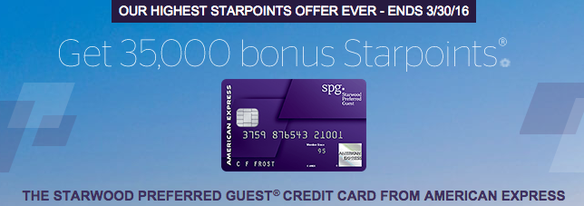SPG Amex 35000 points